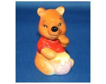 Vintage Walt Disney Productions Winnie the Pooh Figurine Made in Japan Knick Knack Souvenir Figure