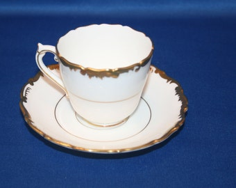 Vintage Tea Cup Coalport Bone China Admiral espresso demitasse Teacup and Saucer made in England English Tea Party