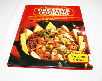 Vintage Cookbook Volume Volume 10 Pasta and Cereals Recipes Encyclopedia of Creative Cooking by Steve Sherman & Julia Older Recipe Cook Book