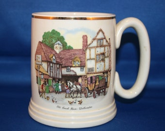 Vintage Cup Lord Nelson Ware Elijah Cotton Old Coach House Stout Ale Beer Tankard  Coffee Mug Made in England