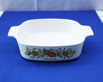 Vintage CorningWare Spice of Life 1 Liter Casserole Dish La Echalote Corning Ware Pyroceram Baking Dish Made in the USA