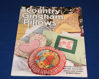 Vintage Country Gingham Pillows Patterns Leaflet by House of White Birches Designs Beth Wheeler Pattern Book Pillow Projects Sewing Crafts