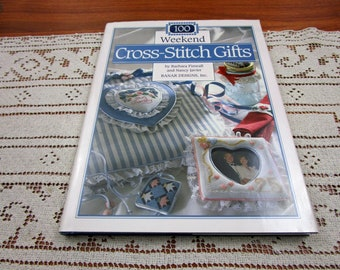 100 Weekend Cross Stitch Gifts by Barbara Finwall & Nancy Javier Hardcover Book Banar Designs 1993 Craft Projects Needlework Pattern How to