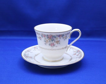 Vintage Teacup and Saucer Noritake China Gallery Pattern 7246 Made in Japan Tea Cup Ivory China coffee cup Morimura Brothers Nippon