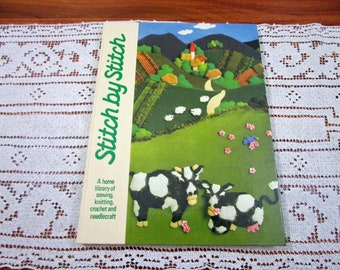 Stitch by Stitch Volume 7 - A Home Library Of Sewing Knitting Crochet and Needlecraft Craft Hardcover Book Crocheting Patterns Torstar
