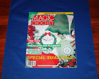 Vintage Magic Crochet Magazine Crocheting Patterns Christmas Projects Bedspread Pattern Holiday Crafts Project October 1992 Number 80
