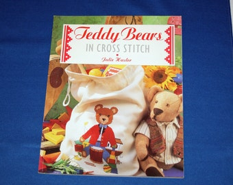 Vintage Teddy Bears in Cross Stitch The Cross Stitch Collection Julie Hasler Pattern Leaflet Patterns Booklet Magazine Projects Book