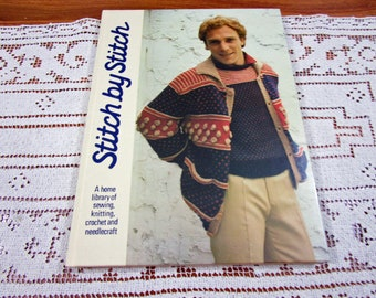 Stitch by Stitch Volume 9 - A Home Library Of Sewing Knitting Crochet and Needlecraft Craft Hardcover Book Crocheting Patterns Torstar