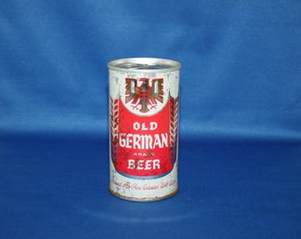 Vintage OLD GERMAN Brand Beer Steel Can Eastern Brewing Co Unopened Empty Pull Tab Breweriana Collectible Bar Memorabilia Barware Ephemera