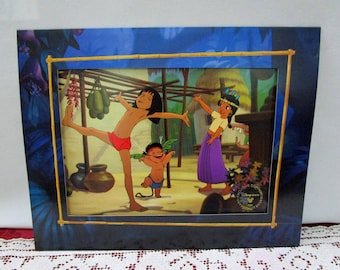 Vintage Disney Jungle Book 2 Commemorative Lithograph, Disney Store Exclusive, Printed in the USA Mowgli Baloo