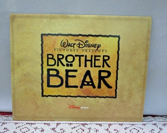 Vintage Disney Brother Bear Commemorative Lithograph, Set of 4, Disney Store Exclusive, Printed in the USA Collectible