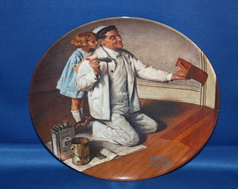 Vintage Edwin M Knowles Norman Rockwell Heritage Collectors Plate – The Painter 1983 Cabinet Plate Collector Plate