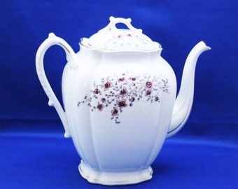 Antique Coffee Pot Carlsbad China Floral Made in Austria Karlsbad Teapot Tea Vintage