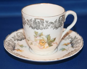 Antique Carl Tielsch Tea Cup & Saucer Fine China Demitasse Teacup and Saucer C.T. Germany Tea Party