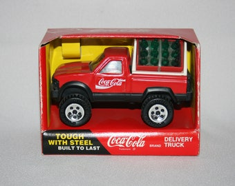 1989 Coca Cola Delivery 4x4 Pickup Truck Tough With Steel Built To Last Metal by Buddy L Corporation 421Q Coca-Cola Delivery Truck Coke
