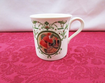 Vintage Lenox Holiday Santa Portrait Mug bone china Made in the USA Coffee Cup Christmas Hot Cocoa