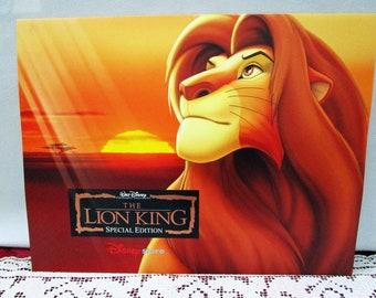 Vintage Disney Lion King Special Edition Commemorative Lithographs Set of 4 Disney Store Exclusive USA Simba Kiara Pumbaa Timon Rafiki
