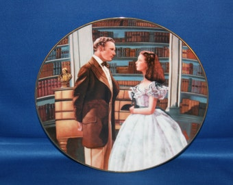 Vintage Bradford Exchange Collectors Plate A Declaration of Love Gone with the Wind Cabinet Plate Charger Scarlett OHara Ashley Wilkes