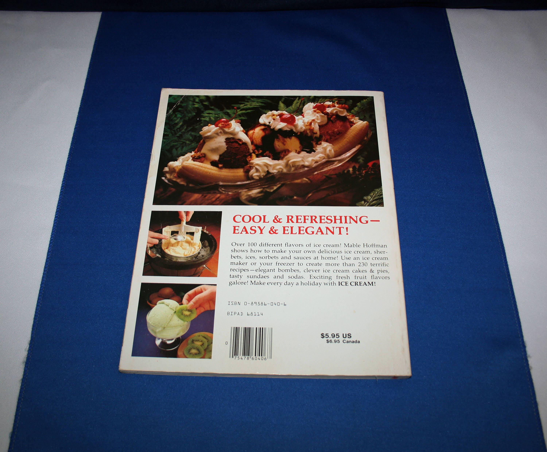 hp books ice cream by mable gar hoffman cookbook recipe book