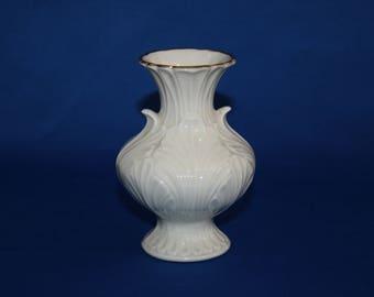 Vintage Lenox China Elfin Vase 24kt Gold Trim Flower Vase Bud Vase Miniature Porcelain China Vase circa 1983-88 USA