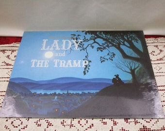 Vintage Disney Lady and the Tramp SEALED Lithograph Portfolio, Set 4, Disney Store Exclusive