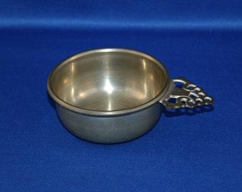 Vintage Pewter Porringer Bowl Woodbury Pewterers RH  Colonial Porringers Bar Collectible Barware Memorabilia Metalware Drinking Cup