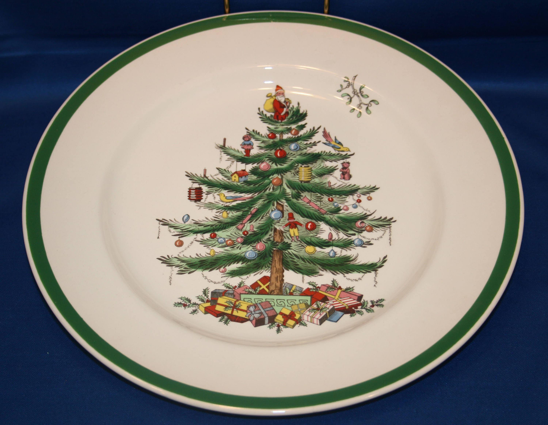 Vintage Spode Christmas Tree Holiday Salad Plate S3324