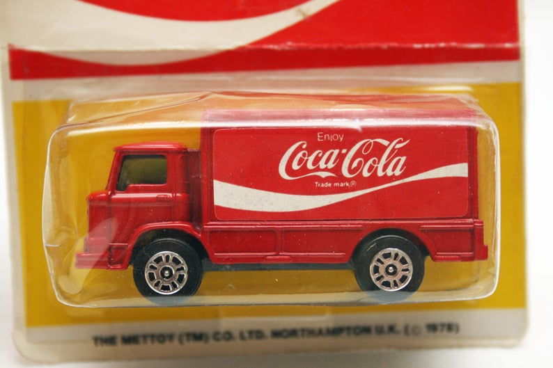 Vintage 1978 Coca-Cola Leyland Delivery Truck from Mettoy by Corgi Juniors,  Leyland Terriers Coke Delivery Truck Coca-Cola