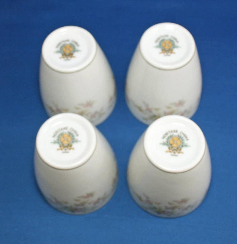 Vintage Noritake China Sake Cup Set of 4 Tea Cups Pink Rose