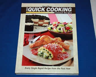 Taste of Home 2008 Quick Cooking Annual Recipes Cookbook Hardcover Recipe Dessert Meal Planning Contest Winning Dishes Cook Book Desserts