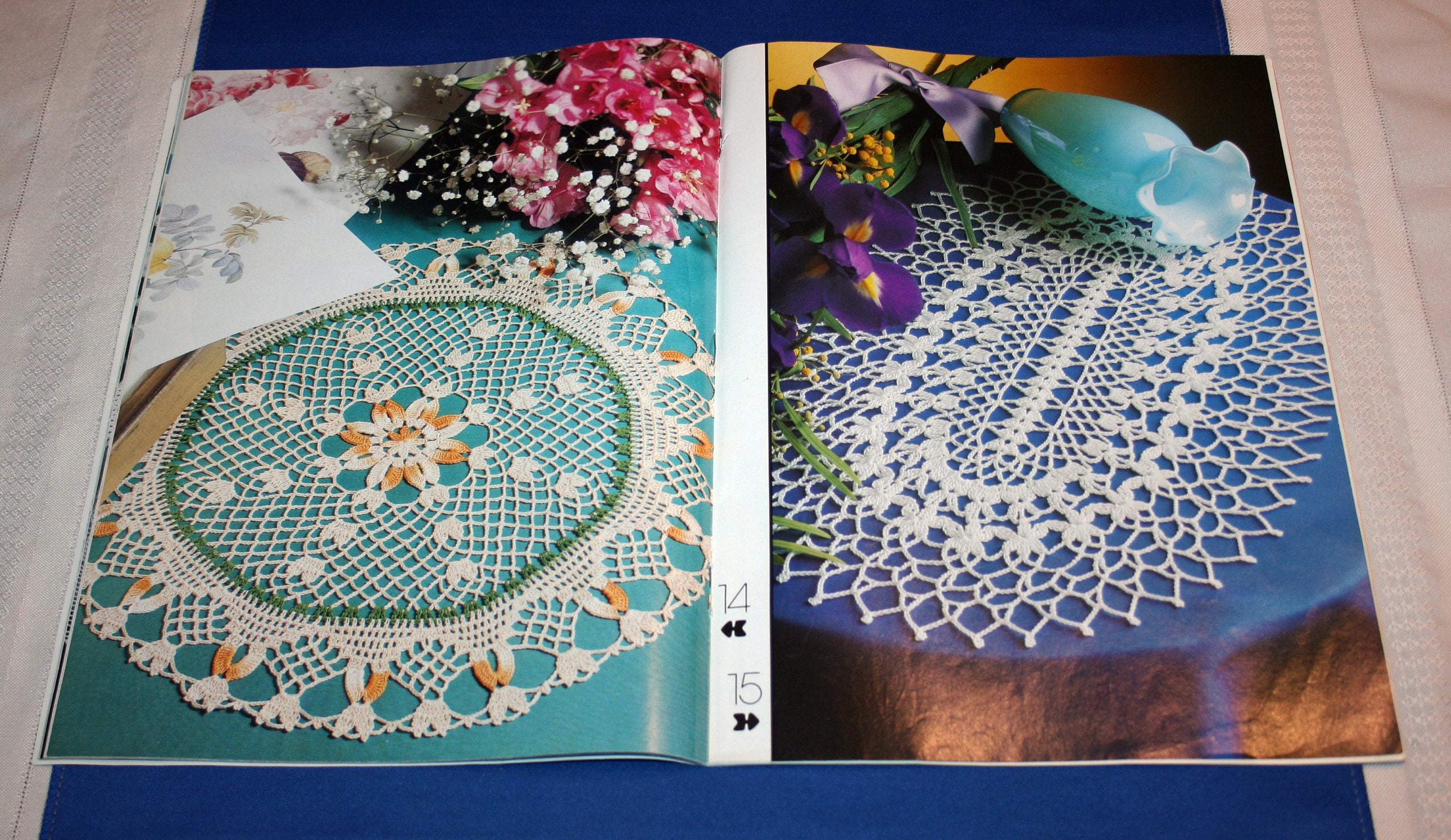 cd305f1b05a Vintage Decorative Crochet Pattern Magazine 27 Crocheting Patterns How to  Information Projects Tablecloths Bedspreads November 1994 No 42