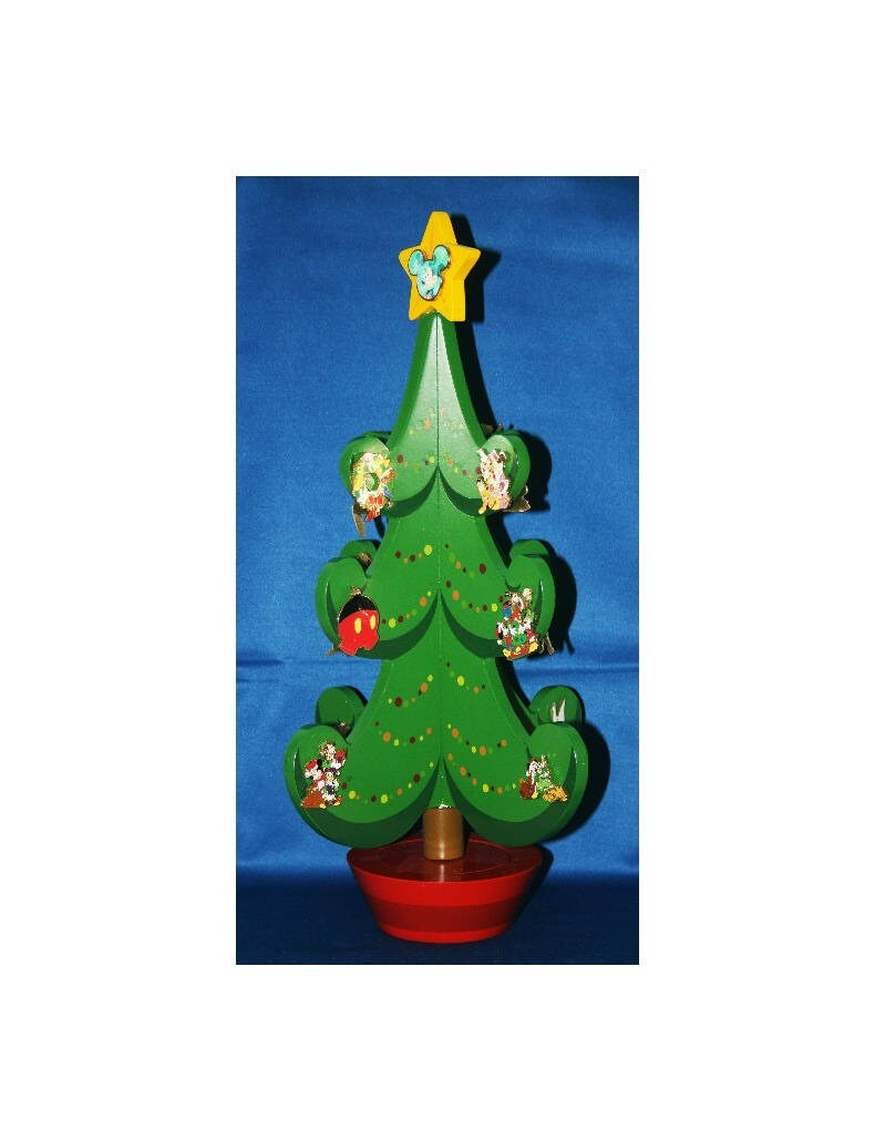 Walt Disney Christmas Music Box Advent Pin Tree Includes All 25 Le