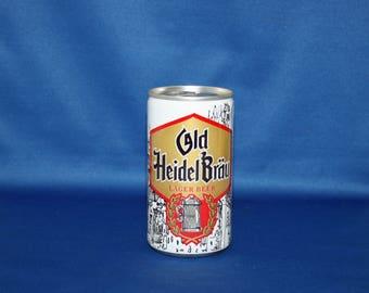 Vintage Old Heidel Brau Lager Beer Steel Can Walgreen Co Great Lakes Brewing Co Bar Memorabilia Barware Collectible Breweriana Advertisement