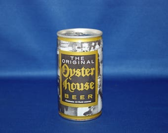 Vintage The Original Oyster House Beer Can Pull Tab Steel Unopened Empty  Bar Memorabilia Barware Collectible Breweriana Advertisement