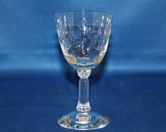 Vintage Spinet Sherry Glass by Fostoria circa 1950's cordial glass cut pattern 821 Wine Goblet Bar Barware Tableware Breweriana