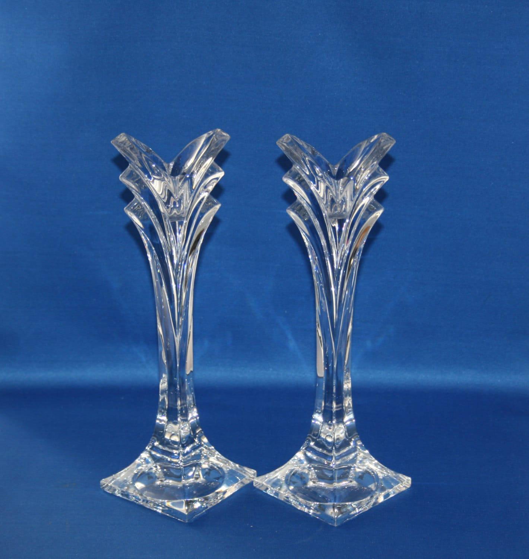 """Vintage 9-3/8"""" Mikasa Art Deco Polished Lead Crystal ..."""