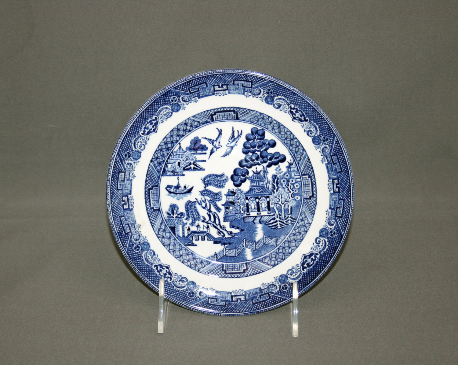 Vintage Johnson Bros Blue Willow Plate Bread and Butter Plate ...