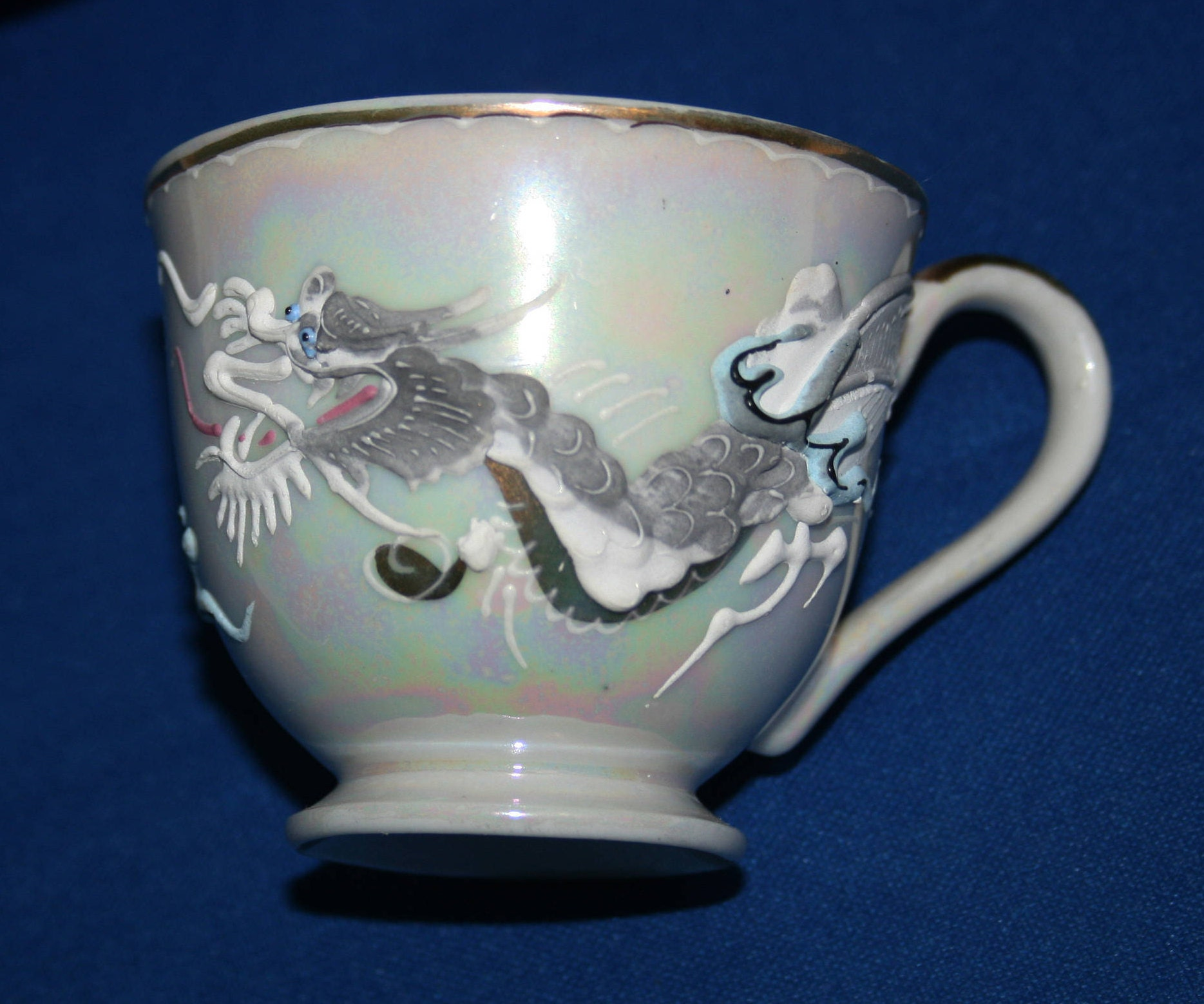 Vintage Dragonware Moriage Dragon Tea Set Tea Pot Creamer