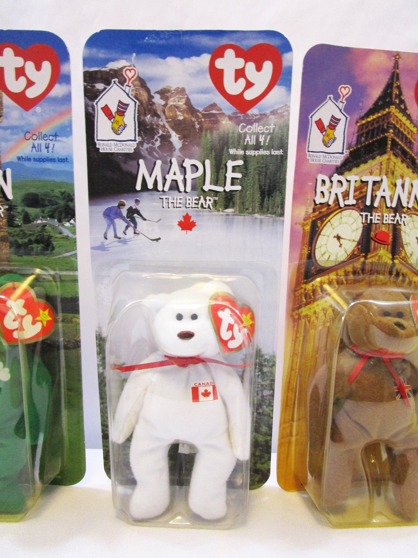 696fff0d18d TY McDonald s Happy Meal Bears Set of 4 Teenie Beanie Baby Erin ...