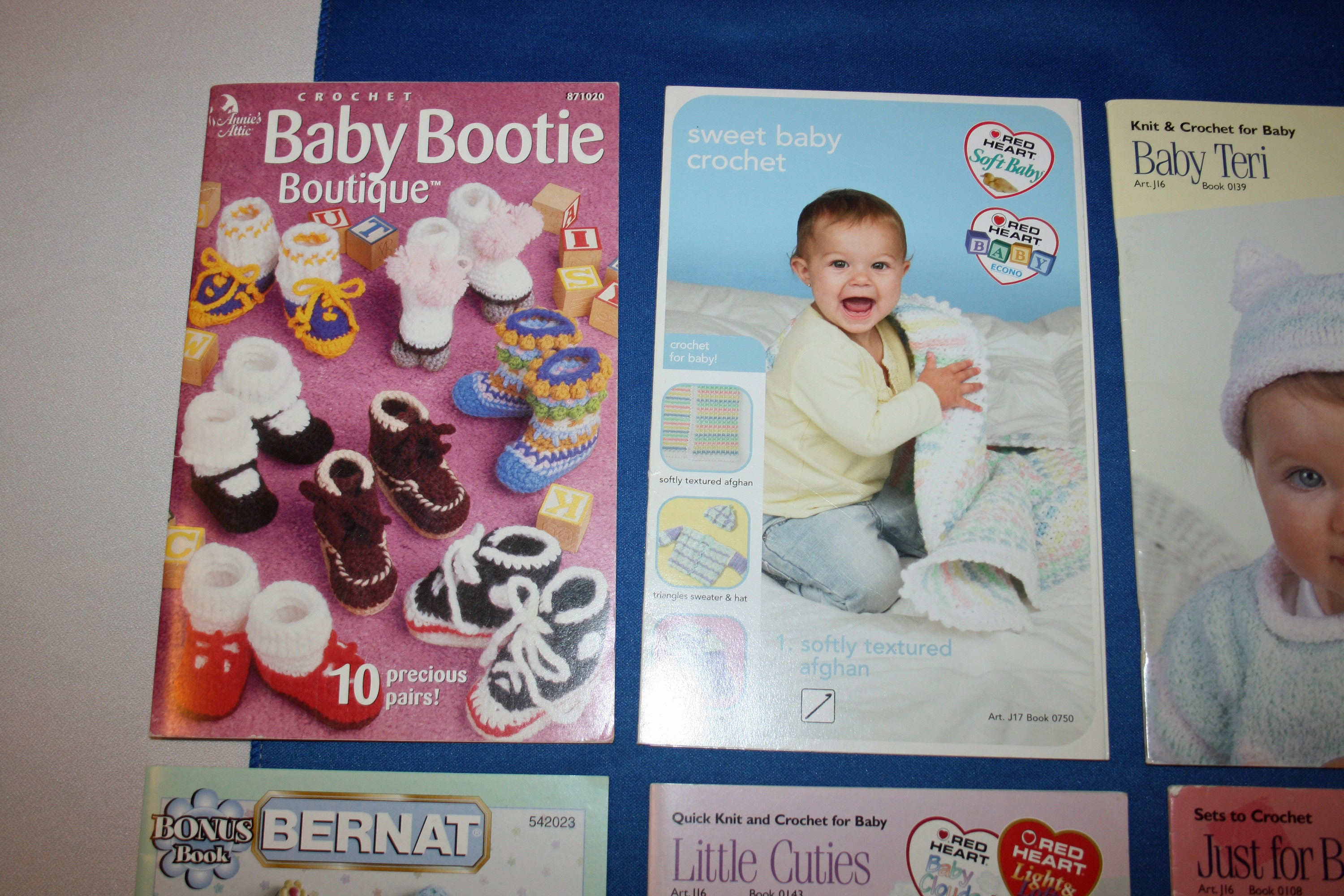 Six Knitting and Crocheting Pattern Booklet for Babies by