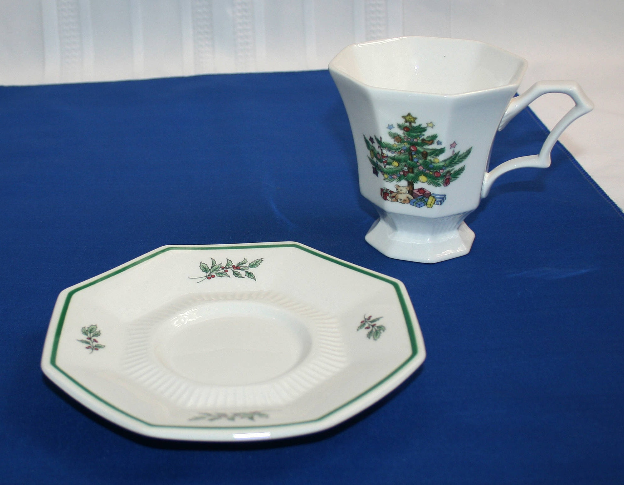 Vintage Nikko Christmastime Teacup and Saucer Made in Japan ...