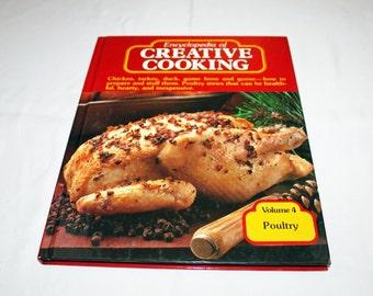 Vintage Cookbook Volume 4 Poultry Recipes Encyclopedia of Creative Cooking by Steve Sherman & Julia Older Recipe Cook Book Chicken Turkey
