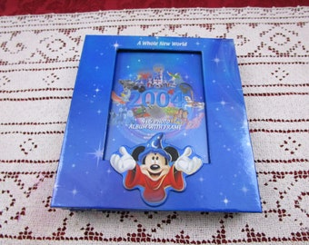 Disney Sorcerer Mickey 60 Page Photo Album and Frame Disneyland Resort Disneyana New Unused Souvenir Mickey Mouse