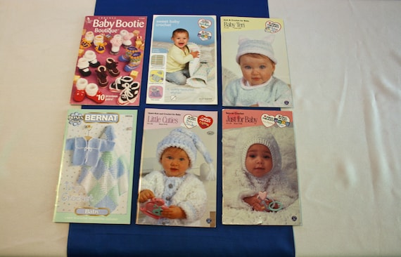 Six Knitting And Crocheting Pattern Booklet For Babies By Red Etsy