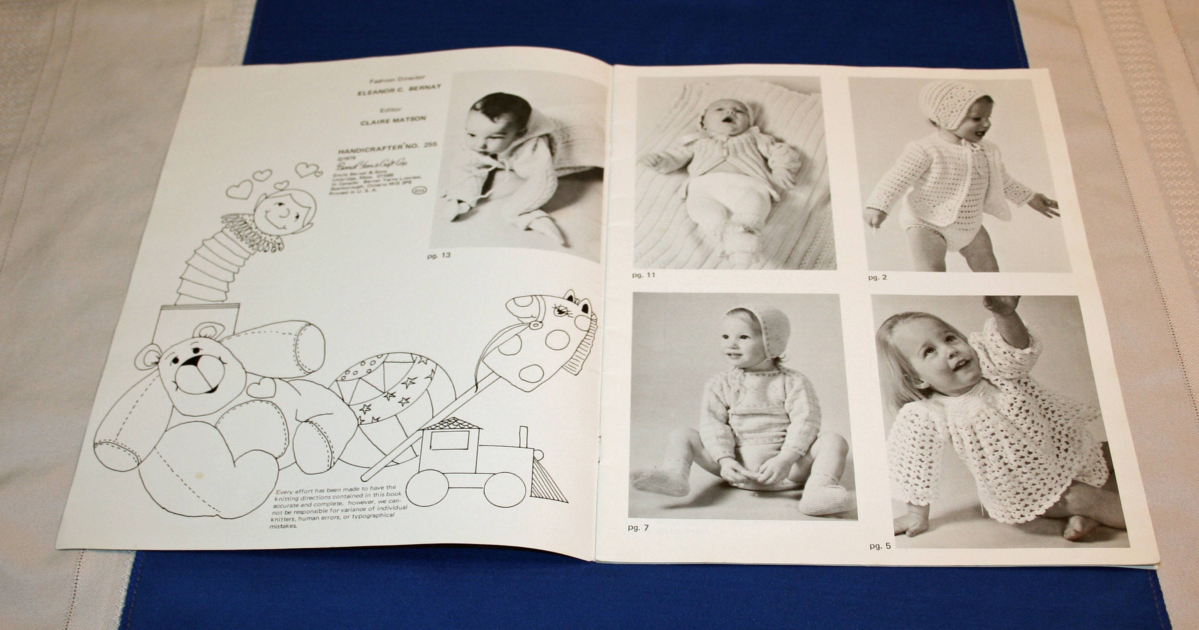 Vintage Peaches N Cream Baby Clothing Crochet Pattern Book Leaflet