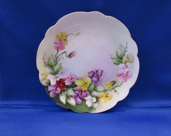 Antique Rosenthal Cabinet Plate Rosenthal Bavaria Hand Painted Floral Spray Bouquet 8 inch Art Display Plate Vintage