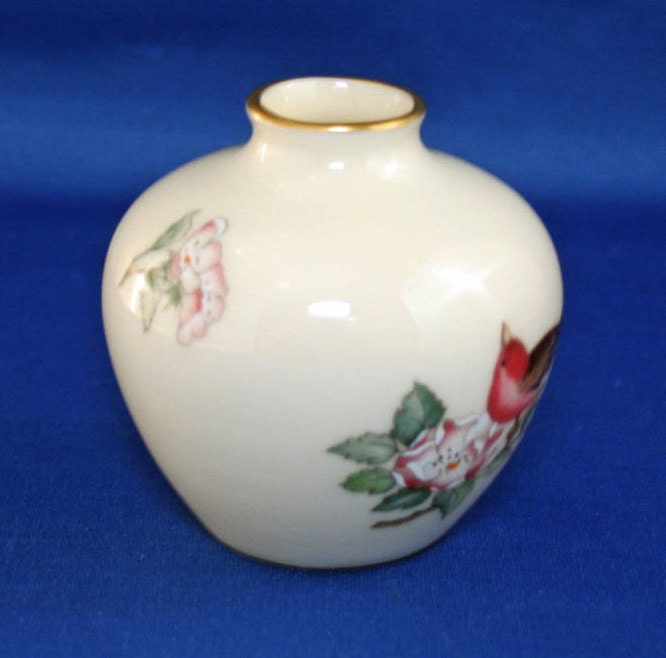 Vintage Lenox China Serenade Bud Vase 24kt Gold Circa 1984 97 Usa