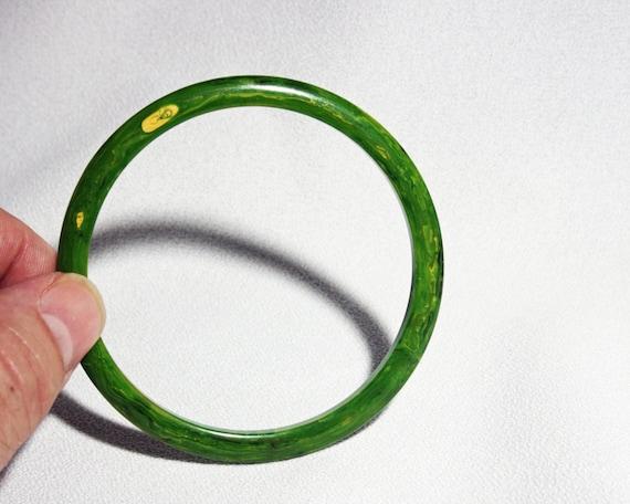 Vintage Bangle Bracelet Bakelite Plastic Marbled C