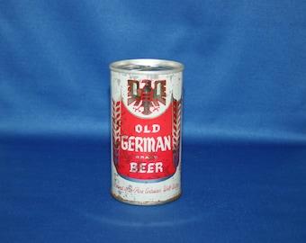 Vintage OLD GERMAN Brand Beer Steel Can Eastern Brewing Co Unopened Empty Pull Tab Breweriana Collectible Bar Memorabilia Barware Ephemera