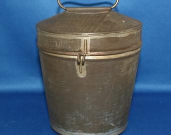 Rare Antique Primitive SILVERS Tin Pudding Mold Brooklyn Circa 1890 Tin Mould Steam Mold Country Kitchen Decor Metalware
